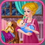 Bottle feeding baby icon