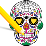 Scary Halloween Coloring Pages - Sugar Skulls icon