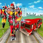 Robot Firefighter Truck Rescue City War icon