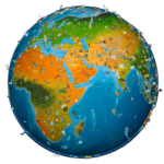 world map atlas 2018 icon