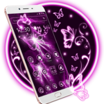 Neon Purple Butterfly Theme icon